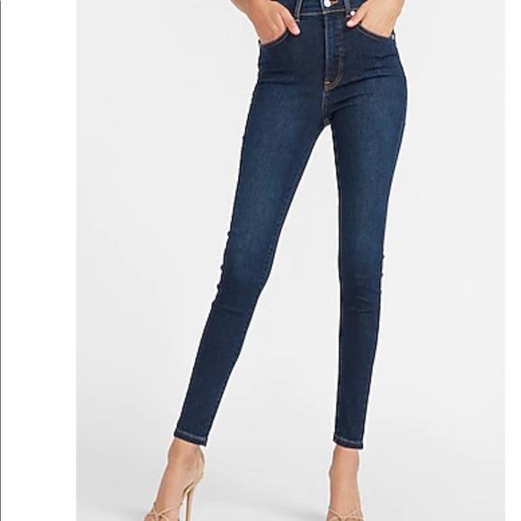 Express High Rise Denim Perfect Skinny Jeans